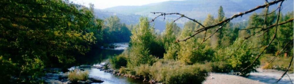 Blick auf Fluss