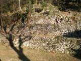Steinterrassen aus der Nähe